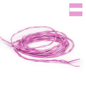 FLRY Kabel 0,35mm² verdrillt rosa/rosa-weiss