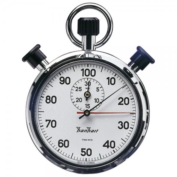 Hanhart Präzisions-Doppel-Stoppuhr 1/100-Minuten 30-Minuten