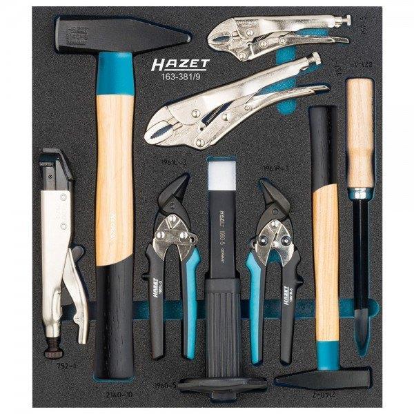 Hazet Karosserie-Ergänzungs-Satz 163-381/9 - Anzahl Werkzeuge: 9