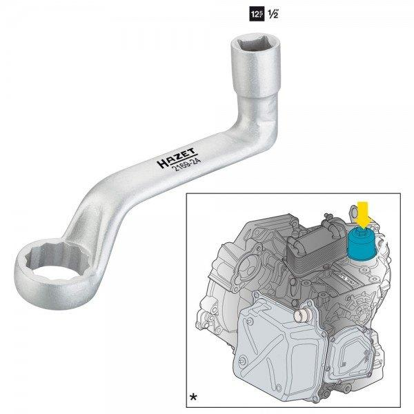 Hazet Ölfilter-Schlüssel für DSG-Getriebeölwechsel 2169-24 - Vierkant hohl 12,5