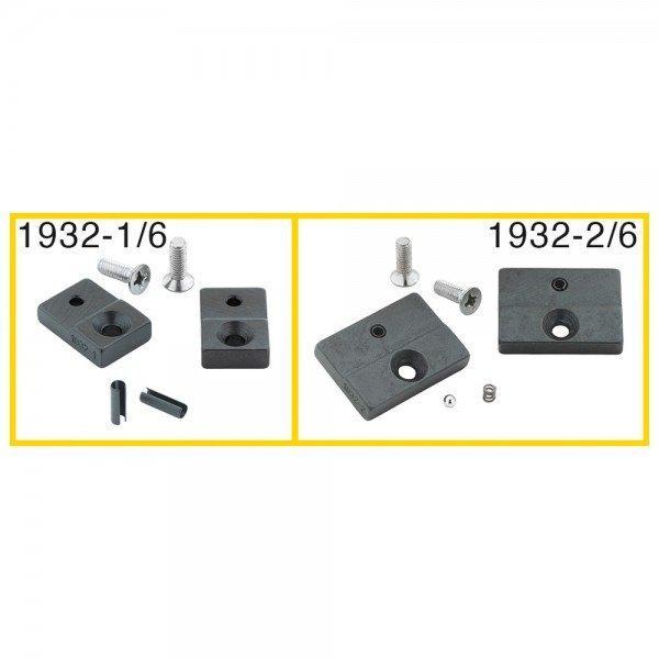 Hazet Ersatzteil-Satz: 1 Paar Prägebacken, 30 mm breit, 2 Schrauben, 2 Spannhüls