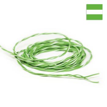 FLRY Kabel 0,35mm² verdrillt grün/grün-weiss