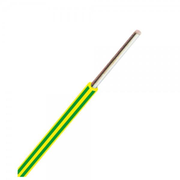 Dönges Aderleitung starr PVC H07V-U 1,5 mm², grün/gelb, Ring 100 m