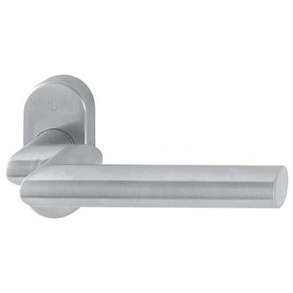 Hoppe PT-Rosetten-Türgriff-Halbgarnitur ohne Schlüsselrosette E1400GF2/55 HG, F6