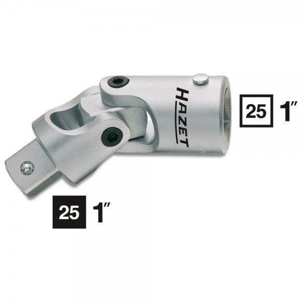 Hazet Universalgelenk 1121 - Vierkant hohl 25 mm (1 Zoll) - Vierkant massiv 25