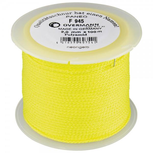 Overmann Maurerschnur Polyamid 2,0 mm 100m neon-gelb