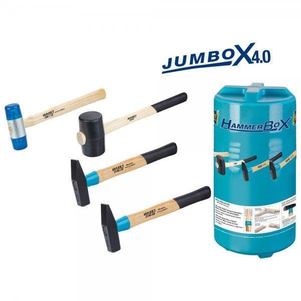 Hazet Hammer-Satz in JumBoX 4,0 2140/4 - Anzahl Werkzeuge: 4