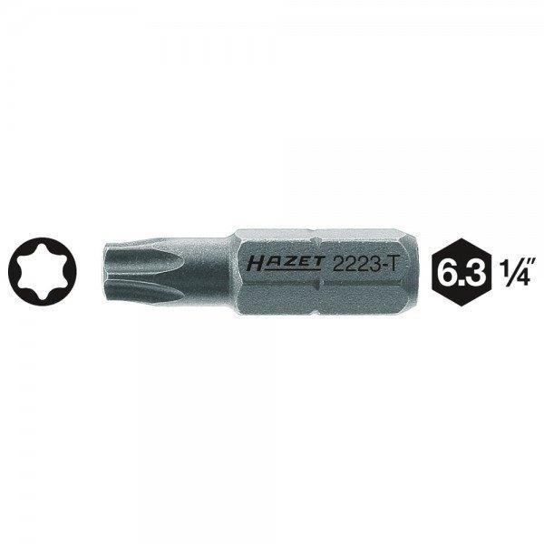 Hazet Bit 2223-T7 - Sechskant massiv 6,3 (1/4 Zoll) - Innen TORX Profil - Schlü