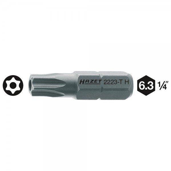 Hazet Bit 2223-T20H - Sechskant massiv 6,3 (1/4 Zoll) - Tamper Resistant TORX P