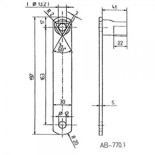 Bever & Klophaus Dreikantschlüssel 17 mm