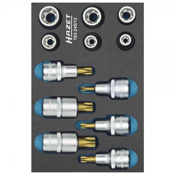 Hazet Werkzeug-Satz, TORX 163-245/12 - Vierkant hohl 12,5 mm (1/2 Zoll) - Außen