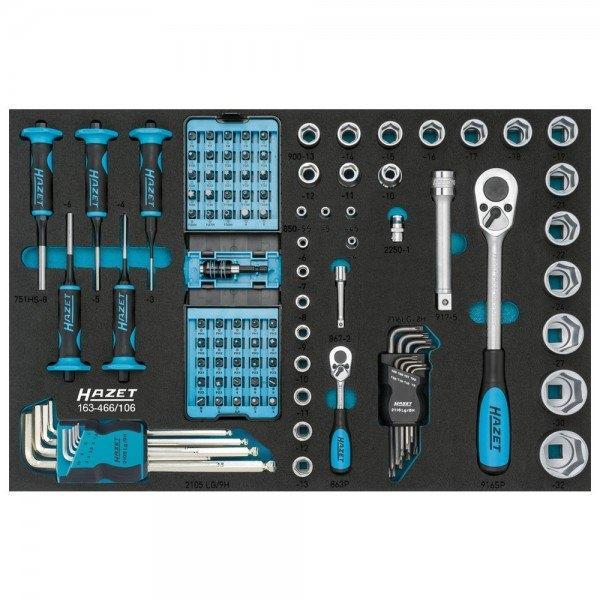 Hazet Werkzeug-Satz 163-466/106 - Anzahl Werkzeuge: 106