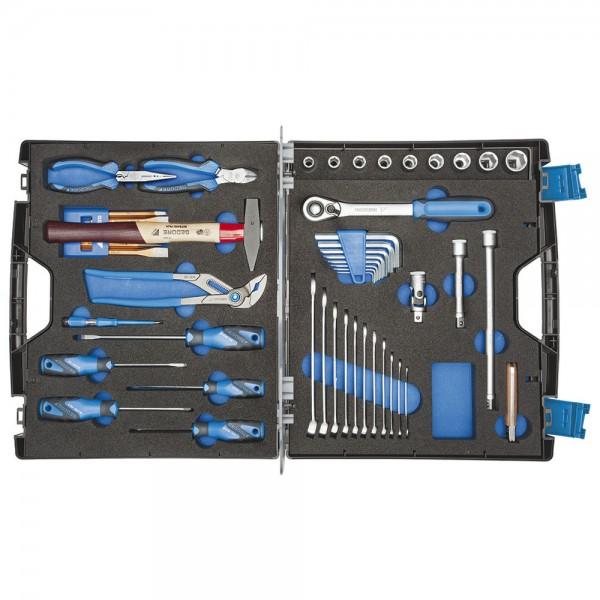 Gedore Werkzeugsortiment Touring 49-teilig + Koffer