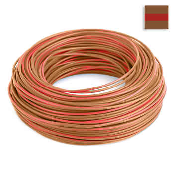 FLRY Kabel 0,35mm² verdrillt braun/braun-rot