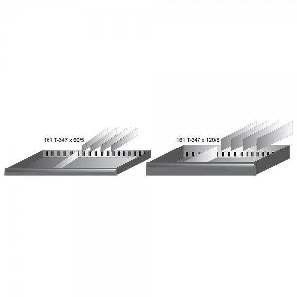 Hazet Schubladen-Unterteilung 161T-347X120/5 - Anzahl Werkzeuge: 5