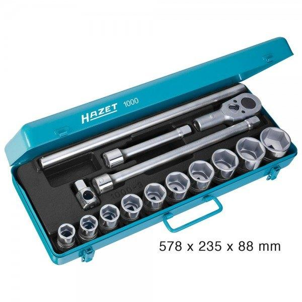 Hazet Steckschlüssel-Satz 1000 - Vierkant hohl 20 mm (3/4 Zoll) - Anzahl Werkze