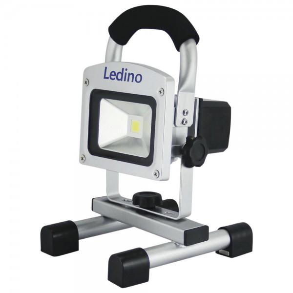 Ledino LED-Standstrahler mit Li-Ionen Akku, 10 W, dimmbar