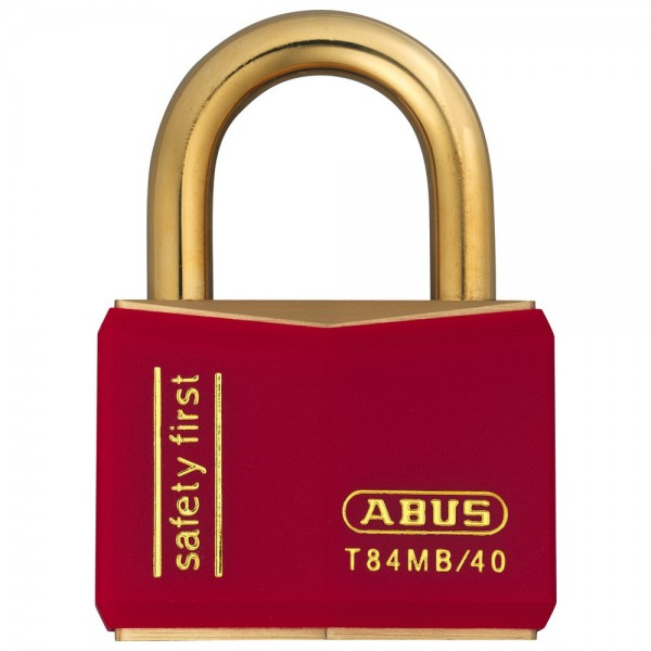 Abus Zylinder-Vorhangschloss Messing Serie T84MB, Typ T84MB/40 nautic, rot