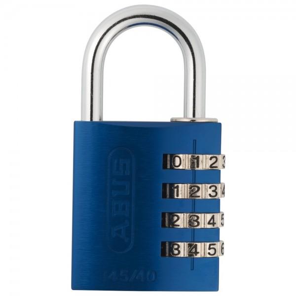 Abus Zahlenschloss Serie 145, Typ 145/40 blau mit EAN