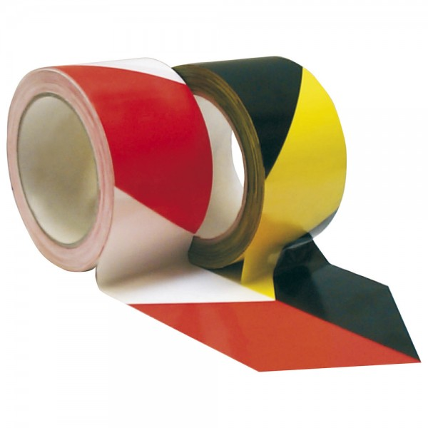 IKS PVC-Warnband selbstklebend 66mx60 mm rot/weiss