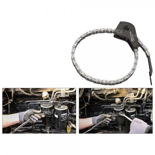 Hazet Ölfilter-Kette 2171-8LG - Vierkant hohl 12,5 mm (1/2 Zoll)