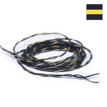 FLRY Kabel 0,35mm² verdrillt schwarz/schwarz-gelb