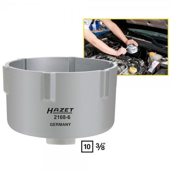Hazet Kraftstoff-Filter-Lösewerkzeug 2168-6 - Vierkant hohl 10 mm (3/8 Zoll) -
