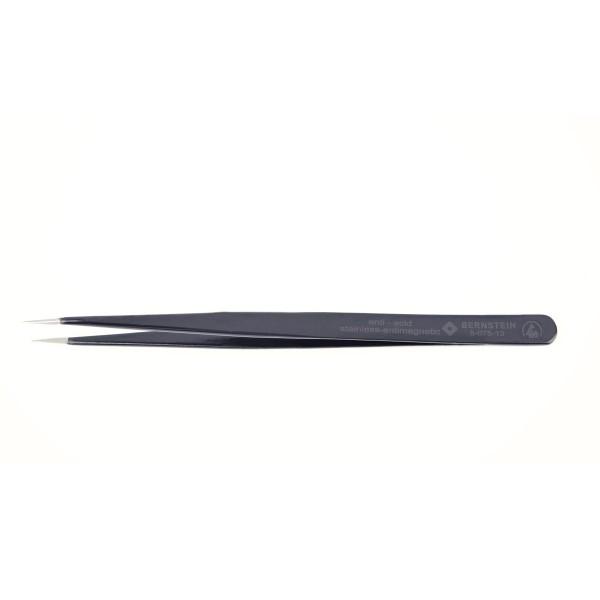 SMD-Pinzette, 140 mm, gerade, super-spitz, Greiffläche abgesetzt