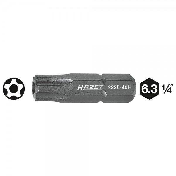 Hazet 5-Stern-Bit 2225-40H - Sechskant massiv 6,3 (1/4 Zoll) - Innen-5-Stern Pr
