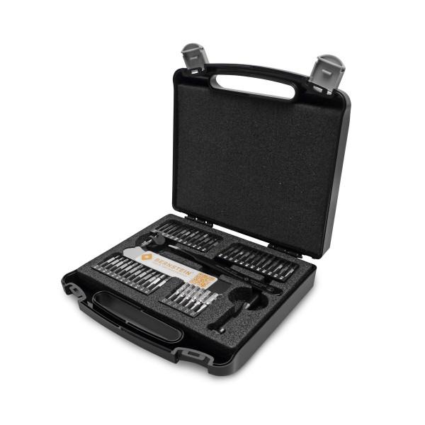 Bit-Satz 47 tlg. mit Reparaturwerkzeugen im Kunststoffkoffer mit Schaumeinlage
