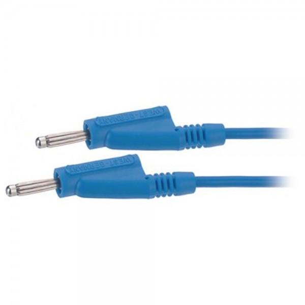 Schnepp Laborkabel ø 4 mm, MS 1115/200 cm, 1 mm², PVC, blau
