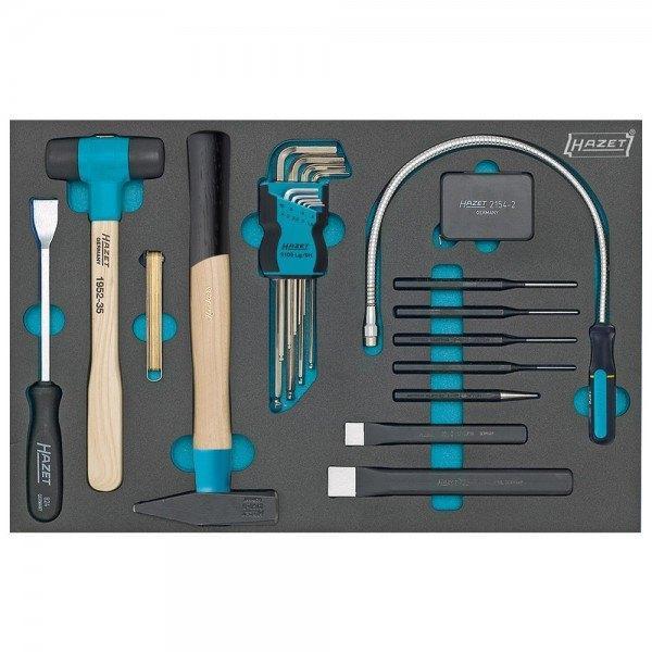 Hazet Werkzeug-Satz, Winkelschlüssel, diverse Werkzeuge 163-60/22 - Innen-Sechs