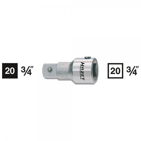 Hazet Verlängerung 1017-3 - Vierkant hohl 20 mm (3/4 Zoll) - Vierkant massiv 20