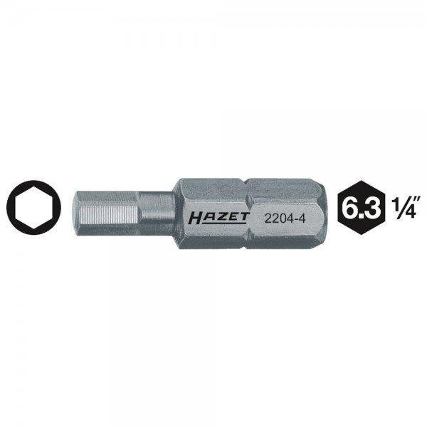 Hazet Bit 2204-5 - Sechskant massiv 6,3 (1/4 Zoll) - Innen-Sechskant Profil - S