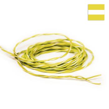 FLRY Kabel 0,35mm² verdrillt gelb/gelb-weiss