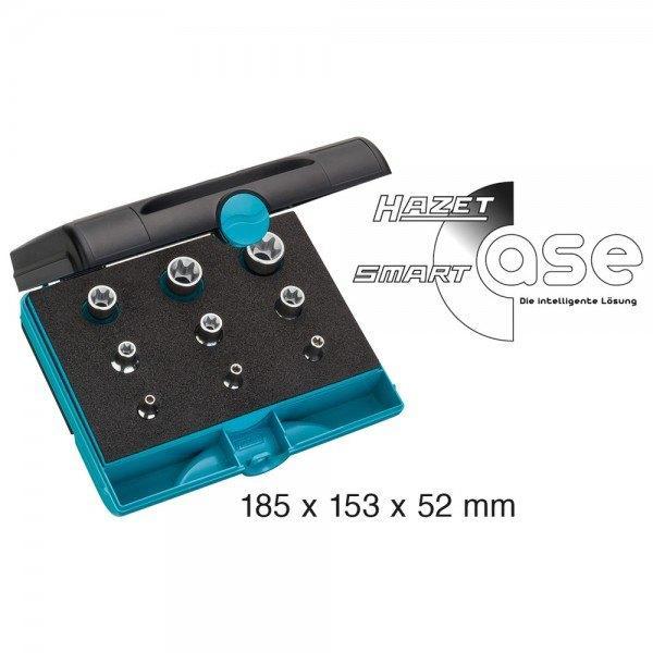 Hazet Werkzeug-Satz TORX 1557/9 - Vierkant hohl 6,3 mm (1/4 Zoll), Vierkant hoh