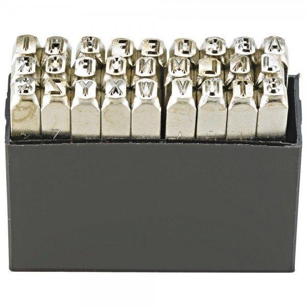 Turnus Schlagbuchstabensatz SH 5 mm vernickelt