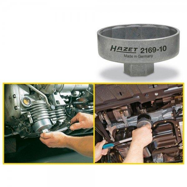 Hazet Ölfilter-Schlüssel 2169-10 - Vierkant hohl 10 mm (3/8 Zoll) - Außen-14-ka