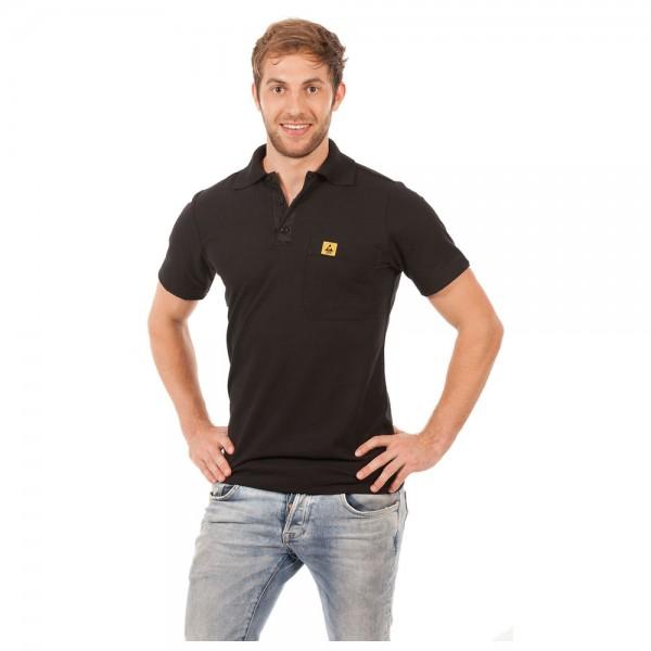Warmbier Polo-Shirt, ESD, XXL, schwarz