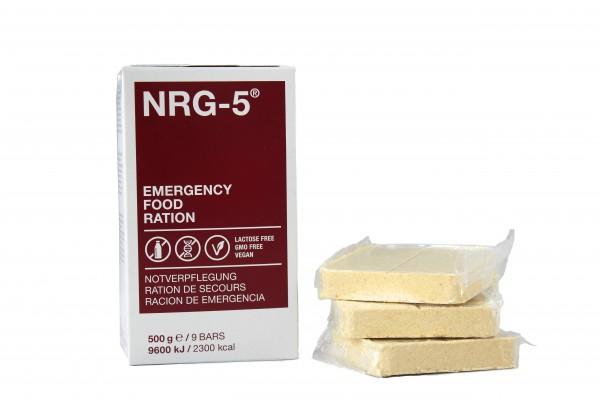 NRG-5® Notration, Notnahrung, Notverpflegung, Langzeitnahrung 24 Stück, je 500 Gramm