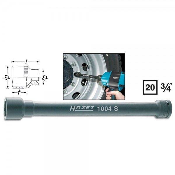 Hazet Schlag-, Maschinenschrauber-Steckschlüssel-Einsatz (6kt.) 1004S-32 - Vier