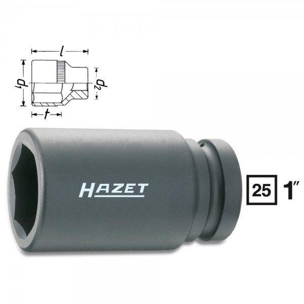 Hazet Schlag-, Maschinenschrauber-Steckschlüssel-Einsatz (6kt.) 1100SLG-38 - Vi