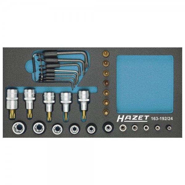 Hazet Steckschlüssel-Satz TORX 163-192/24 - Vierkant hohl 12,5 mm (1/2 Zoll), V