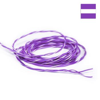 FLRY Kabel 0,35mm² verdrillt violett/violett-weiss