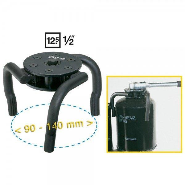 Hazet Kartuschen-Schlüssel 2195 - Vierkant hohl 12,5 mm (1/2 Zoll)