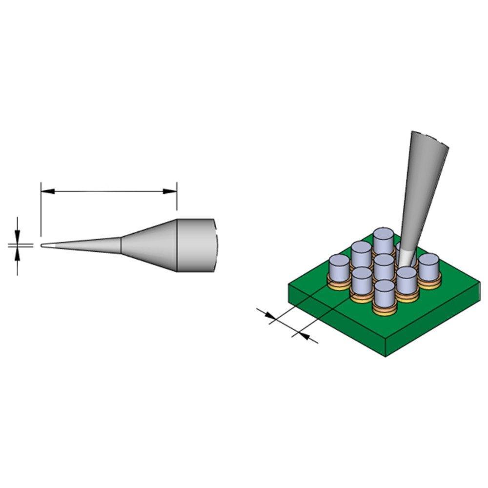 JBC Lötspitze Serie C105 Rundform gerade C105101//Ø 0,1 mm