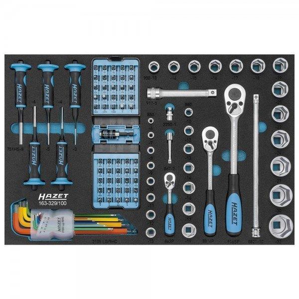 Hazet Werkzeug-Sortiment 163-329/100 - Anzahl Werkzeuge: 100