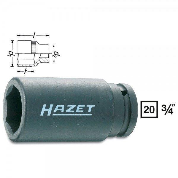 Hazet Schlag-, Maschinenschrauber-Steckschlüssel-Einsatz (6kt.) 1000SLG-36 - Vi