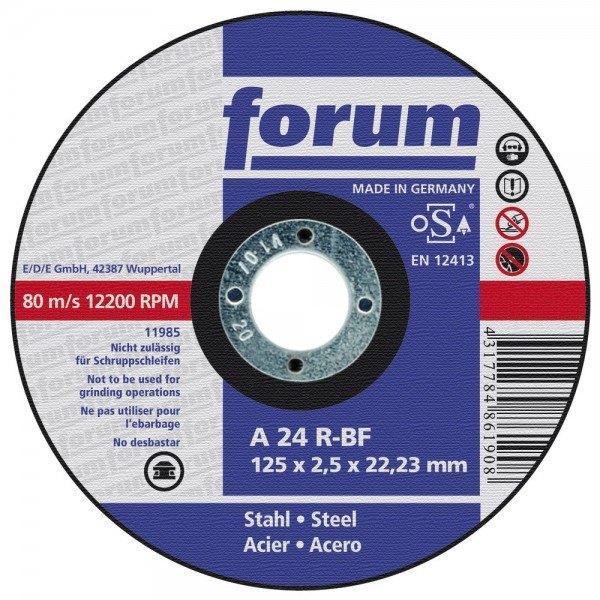 Forum Trennscheibe, 125 x 2,5 mm, Metall, gekröpft
