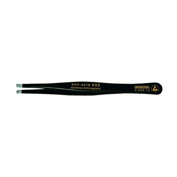SMD-Pinzette, 120 mm, gerade, 3,0 mm breit, mit Greifmulde Ø 0,8 mm, mit ESD-Beschichtung